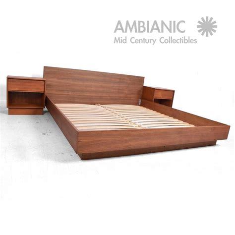 danish modern bed danish modern teak platfom bed king size mid century