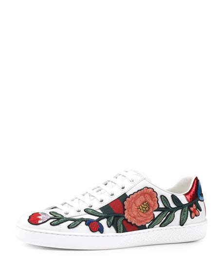 Sneakers White Flower gucci new ace floral embroidered low top sneaker white