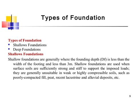 type of foundation vs types of footings vandana miss