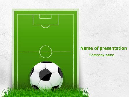football themed powerpoint 2007 european football field presentation template for