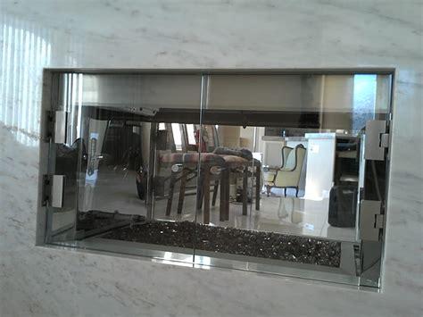 Custom Frameless Fire Place Glass Doors With Broken Glass Place Glass Door