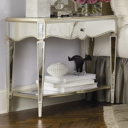 Wood And Mirrored Nightstand One Drawer Mirrored Nightstand Product Nightstand