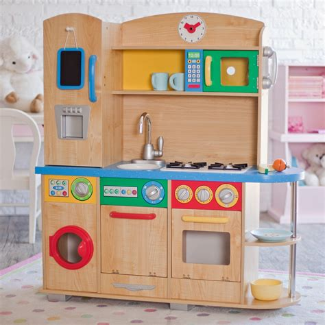 Kidskraft Kitchen by Kidkraft Cook Together Play Kitchen 53186 Play
