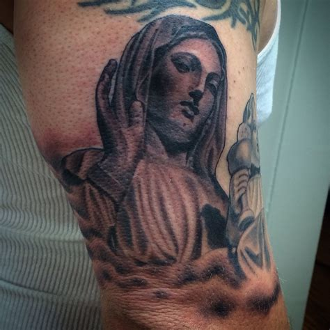 virgin mary tattoo black and grey luis lorenzo certified artist