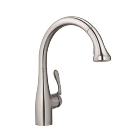 hansgrohe cento kitchen faucet solid brass steel optik hansgrohe 04066860 allegro e gourmet pull down kitchen