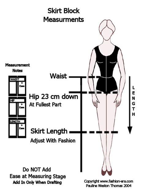 pattern drafting measurement chart flat pattern drafting of skirt skirt block measuring page 2