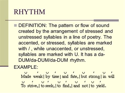 Pattern Rhythm Definition | tone definition it is the attitude a writer takes toward