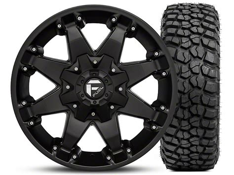 Bfgoodrich Sweepstakes - fuel wheels wrangler octane matte black 17x8 5 and bf goodrich mud terrain t a km2 265