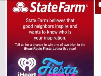 State Farm Sweepstakes - state farm iheartradio fiesta latina sweepstakes sweepstakes fanatics