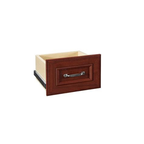 Closetmaid Drawers Home Depot closetmaid impressions 8 in h cherry narrow drawer kit 30600 the home depot