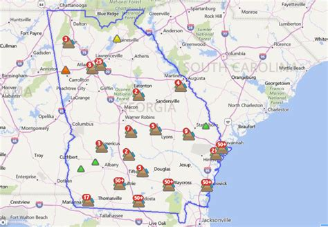 power outage map atlanta power nearly 48 000 customers without power