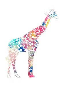 colorful giraffe painting colorful giraffe print watercolor animal print painting
