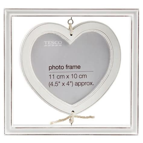 Hanging White Wash buy tesco hanging distressed white wash wood frame