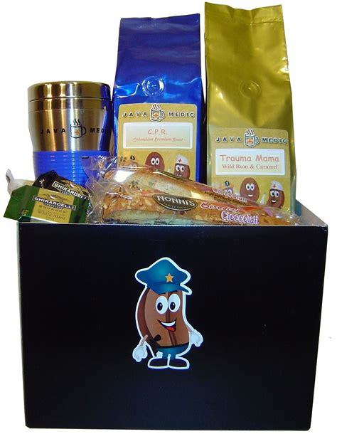 Gifts For Officers by Coffee Cop Officer Gift Basket 171 Java Medic Coffee