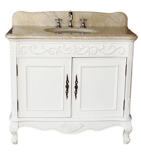 36 antique white bathroom vanity adelina 36 inch antique bathroom vanity white finish beige marble top