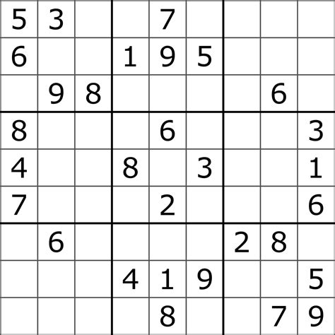 printable junior sudoku sudoku wikipedia