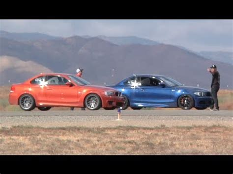 bmw 1m hp 450 hp bmw 135i vs 440 hp bmw 1m coupe half mile runway