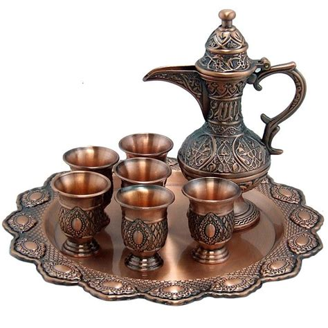 arabic bedouin coffee set service 530c poly tray set