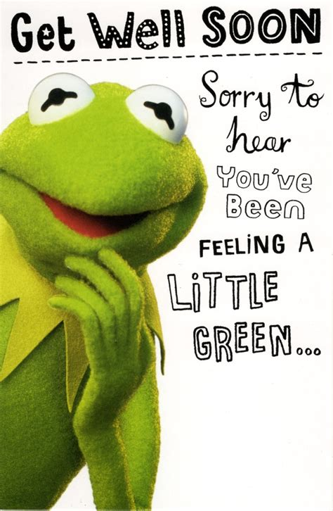 Get Well Gift Cards - kermit the frog get well soon card cards love kates