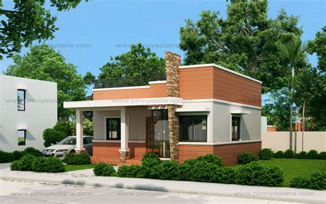 Small House Plans With Cost To Build rommell one storey modern with roof deck pinoy eplans