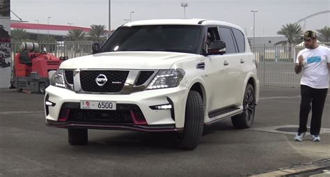modified race 2017 nissan patrol nismo drag racing will leave you