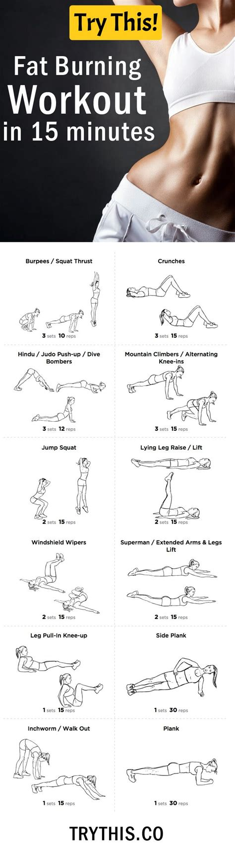 the fat incinerating 15 minute workout for weight loss 1000 ideas about fat burning workout on pinterest fat