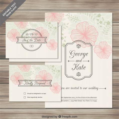template undangan nikah psd cart 245 es florais convites do casamento no estilo esbo 231 ado
