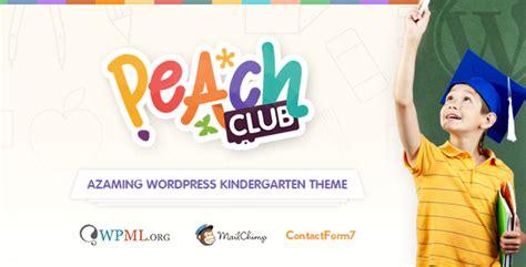 drupal themes kindergarten peachclub kindergarten childcare wordpress theme by