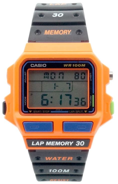 casio sdb 500wb 4av montre homme quartz digitale chronom 232 tre alarme eclairage bracelet