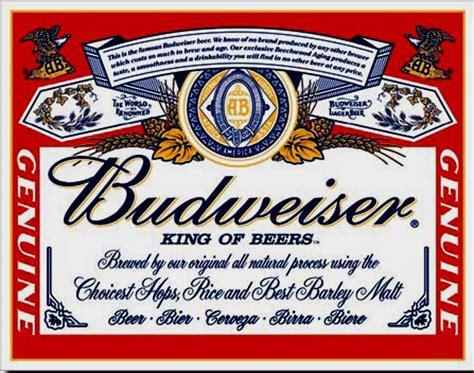 printable budweiser label budweiser label tin sign