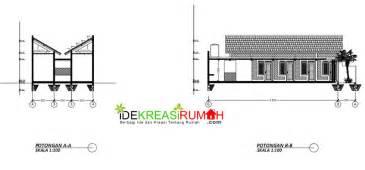 desain gambar kerja kos kosan satu lantai ekonomis ide kreasi rumah
