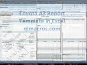 A3 Template Word by Toyota A3 Report Template In Excel Pdca