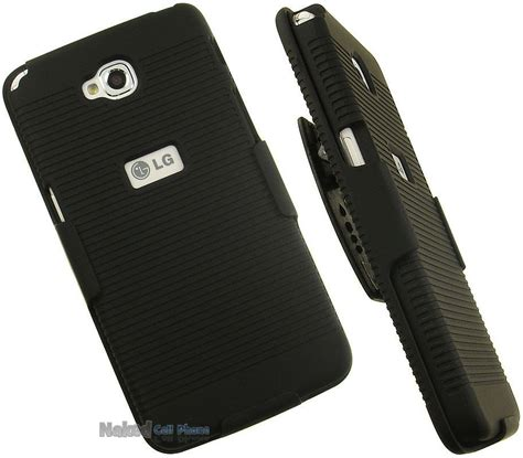 Hardcase Clip Belt Lg X Screen Stand Soft Casing black ribbed rubberized cover belt clip holster stand for lg phone ebay
