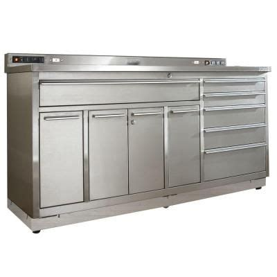 7 Standard Garage Storage System With Stainless Steel Workbench From Just Pro Tools Australia Viper Tool Storage 72 In 6 Drawer Stainless Steel Garage Workstation Base V7206ugss At The Home