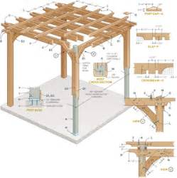 Pergola In Plan by Pergola Plans Bbt Com