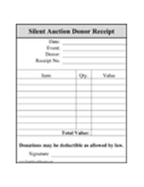 silent auction winner tax deduction receipt template donation receipts