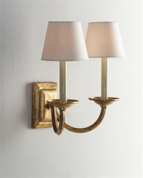 Traditional Sconces Visual Comfort Arm Quot Flemished Quot Sconce Traditional