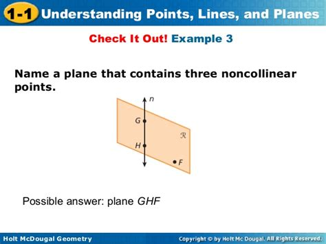 name the line and plane shown in the diagram geometry introduction