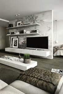 Modern Living Rooms by How To Use Modern Tv Wall Units In Living Room Wall Decor
