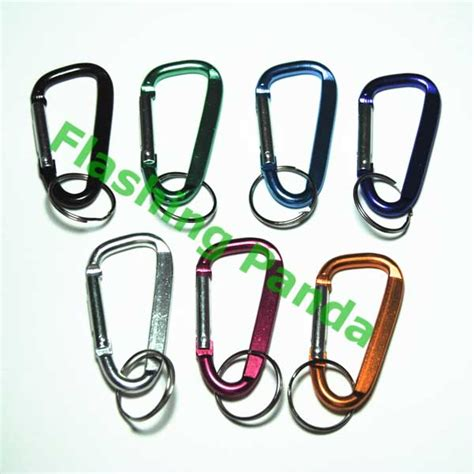 Xsy Keychain Assorted Newvi 3 panda carabiner keychain pack of 3 assorted colors