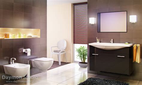 Modern Brown Bathroom Ideas Modern Bathroom With Brown Tiles Interior Design Ideas