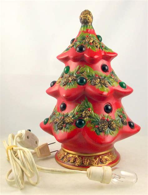 vintage napco ceramic lighted christmas tree figurine x