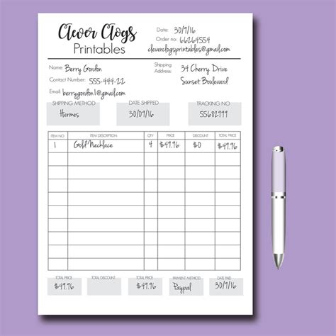 custom order form custom order form business organizer branded staionery