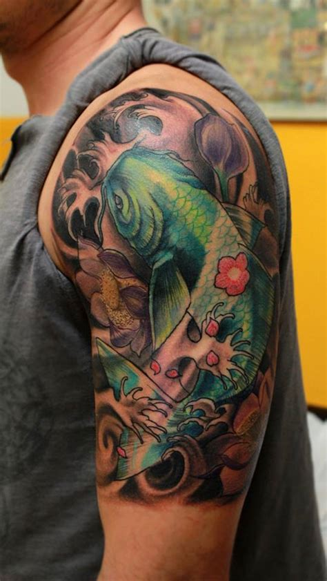 carpa koi tattoo carpa giapponese e pictures to pin on pinterest tattooskid