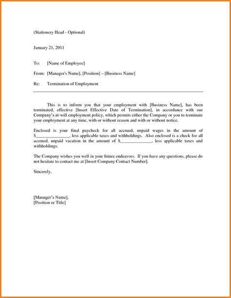 termination letter guidelines collection of solutions sle termination letter for poor