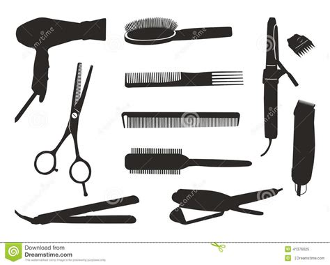 hairdressing tools stock vector illustration of curling