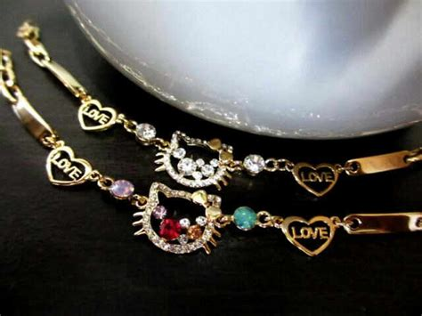 Set Kalung Gelang Guess dk supplier perhiasan lapis emas dan rhodium termurah