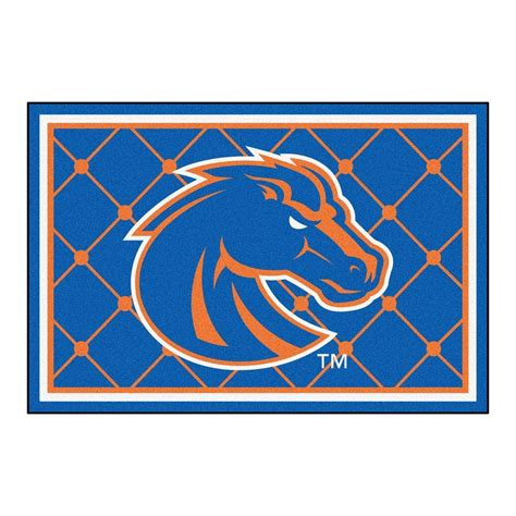 area rugs boise fanmats boise state 5 ft x 8 ft area rug 6796 the home depot