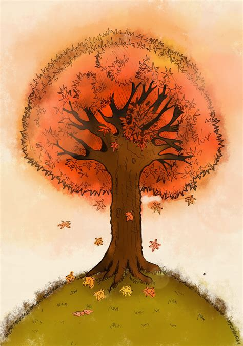 maple tree drawing autumn maple tree by aerith0808 on deviantart