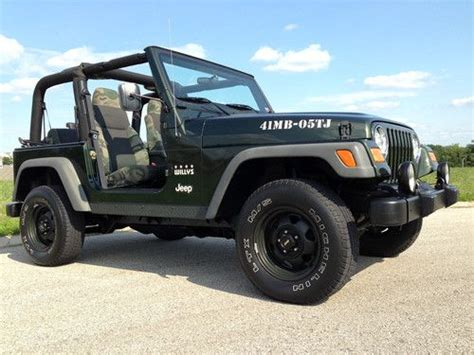 Jeep Wrangler Edition For Sale Buy Used 2005 Jeep Wrangler 4 0l 4x4 Willys Limited